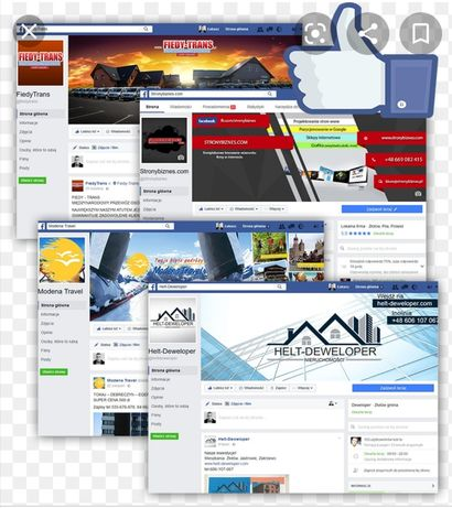 Prowadzenia konta firmowego:  Facebook, Instagram, Wizytówka Google.
