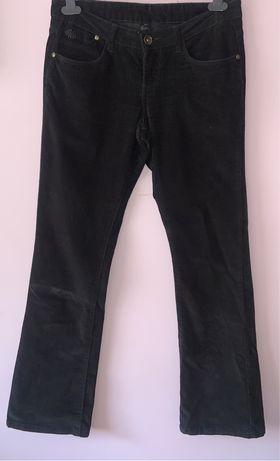 Calças pretas cintura baixa