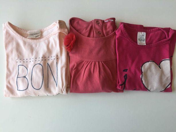 conjunto de 3 camisolas menina 18/24 meses