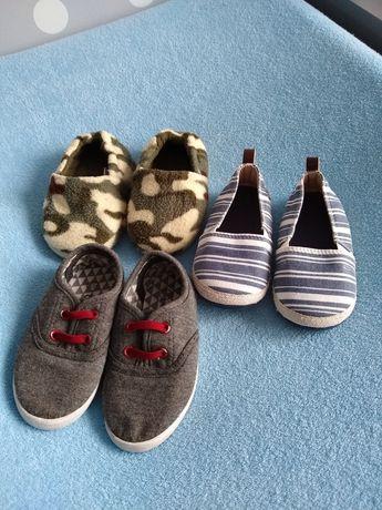 Zestaw bucików chłopięcych, H&M, rozmiar 22,długość wkładki 13,5 cm