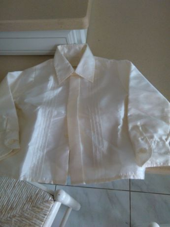 Camisa bébé cerimónia 12 M