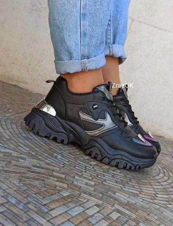 36-41р Черные белые кроссовки ботинки эко кожаные деми осенние женские