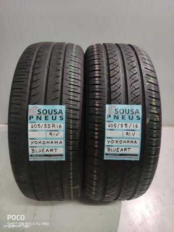 2 pneus semi novos yokoama 205-55-16 Oferta dos Portes para todo o país