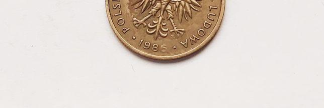Moneta 5 zł 1986 r Destrukt niedobita data