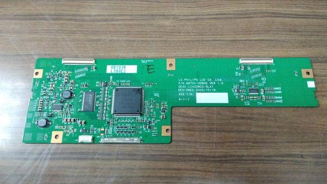 Placa T-Con LG Philips: 6870C-0080D ver 1.0