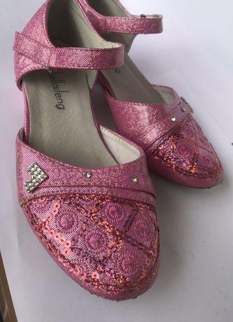 Нарядные розовые туфли босоножки р31 рожеві туфлі босоніжки