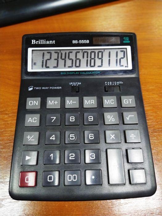 КалькуляторBrilliant 12-разрядный (BS-555B) Харьков - изображение 1