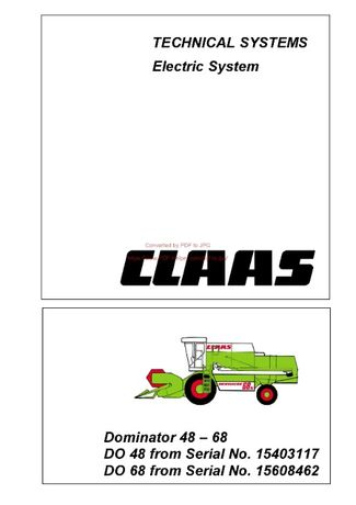 Electric system CLAAS Dominator 48-68