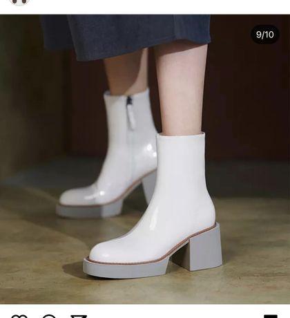 Ботинки кожаные, новые
