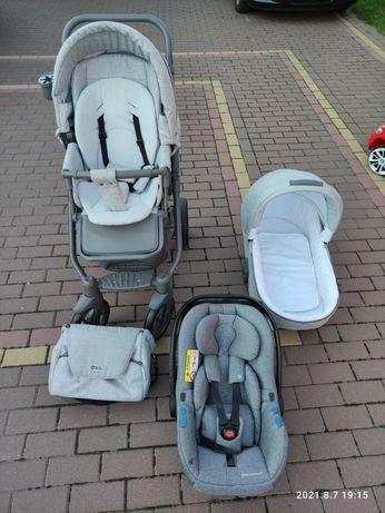 JAK NOWY!!! Wózek 2w1 Adamex Hybryd Plus, fotelik Avionaut Pixel