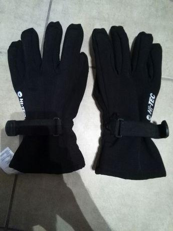 Rękawice rękawiczki narciarskie męskie Hi-tech czarne jak Nowe