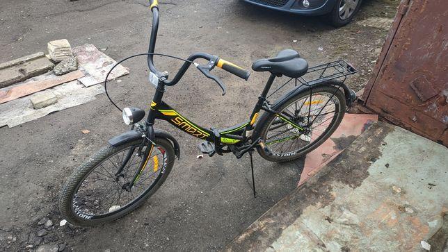 """Велосипед 24"""" FORMULA SMART С задним багажником, щитками, фонарем"""