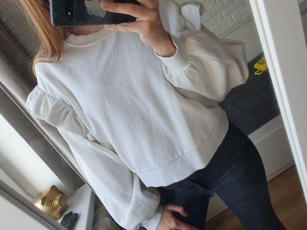 Biała bluza zara