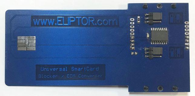 Emulator Blocker / Konwerter ECM FEDC SmartCard (ISO) PIC16F628A SMD
