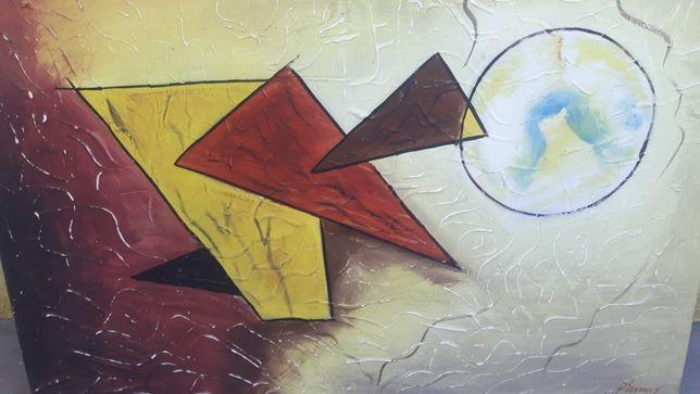 Quadro arte abstrata de sala , quarto ou escritório