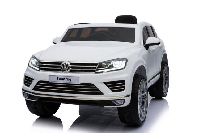 VOLKSWAGEN TOUAREG samochód auto na akumulator EVA skóra pilot LED