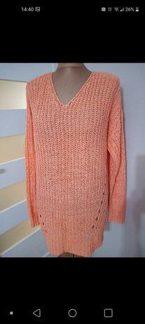 Sweter sweterek tunika besic modny pomarańczowy Gina Tricot rozm. L.