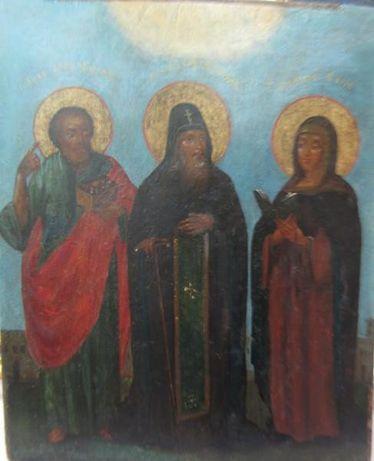 Икона Св. Даниил с предстоящими 19 век