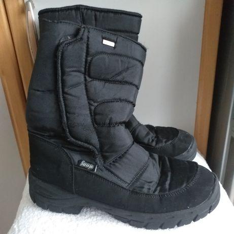 Buty nieprzemakalne śniegowce  trapery botki pikowane idealne w góry