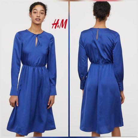 Шикарное атласное платье от H&M