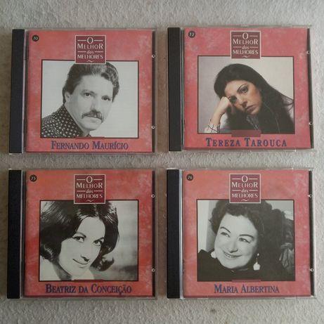 """Lote CD's de FADO """"Inesquecíveis"""" e """"O Melhor dos Melhores"""""""