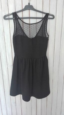 Czarna sukienka z koronką ZARA rozm. S