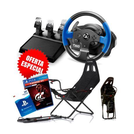 Simulador Cockpit Playseat Challenge Volante Thrustmaster T150Pro NOVO