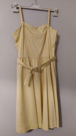 Żółta, letnia sukienka