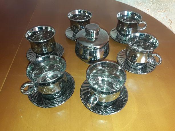 Стеклянный чайный набор