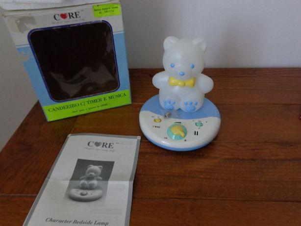 Candeeiro / luz de presença para quarto de bébé, ursinho