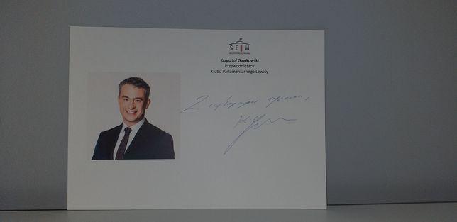 Autograf - Krzysztof Gawkowski