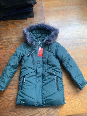 Куртка новая зима рост 122, 140 качество супер