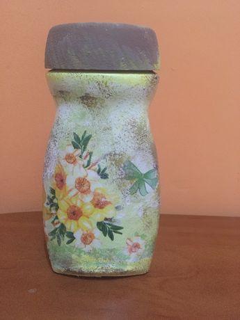 Wielkanocny słoik/wazon ręznie zdobioby