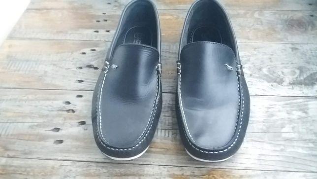 Sapatos pele, tipo vela, homem, azul escuro, nº 42