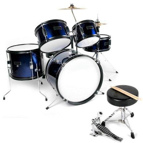 perkusja + talerze + stołek Ever Play Black Tiger JBJ1046 MBL Junior