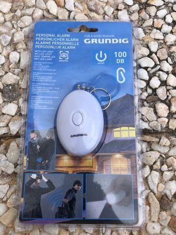 Alarme pessoal 100dB Grundig com lanterna - novo