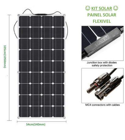 Kit Painel Solar Mono 100W Flexível