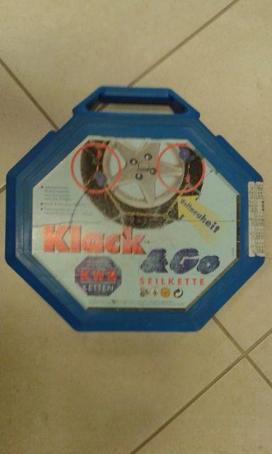 Łańcuchy KWB-Ketten, Klack & GO,1180, K70, samonapinacz. Austria