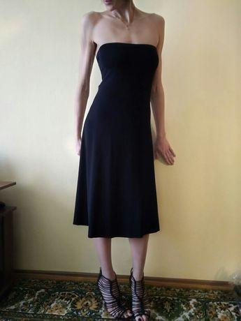 Платье чёрное эластичное миди Wolford волфорд вулфорд оригинал р.38