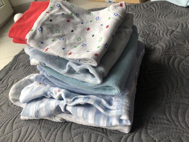Zimowa paka pajacyk zima spodnie ocieplane chłopiec 68