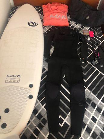 Prancha de surf olaian + acessórios
