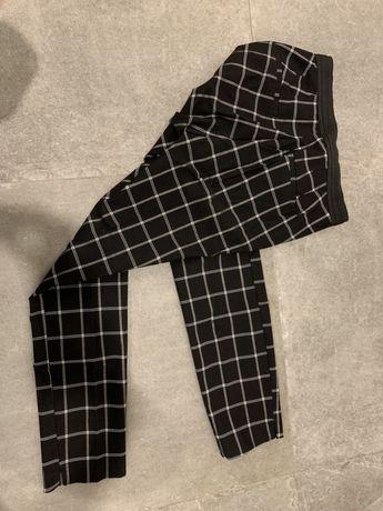 Eleganckie spodnie ZARA kratka w kratkę 36 s