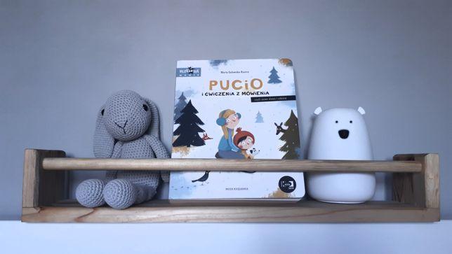 Półka drewniana na książki dla dzieci - styl skandynawski - ograniczni