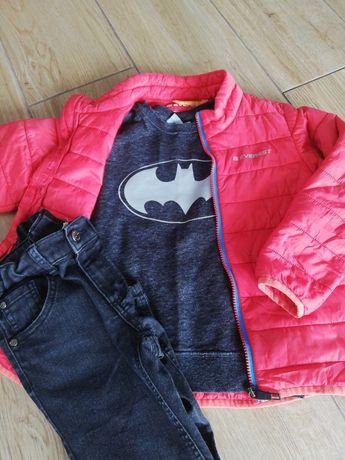 Kurtka pikowana wiosenna Everest+jeansy Kappahl+bluza Batman 116