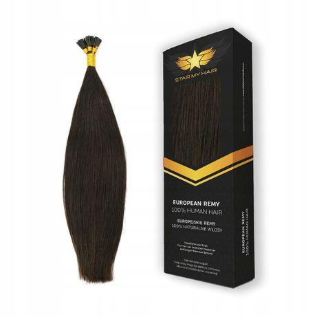 Pasemka Keratyna Ringi włosy naturalne europejskie 40cm 20x0,7