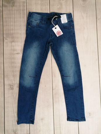 Nowe spodnie smyk jeansy joggery na gumie guma w pasie