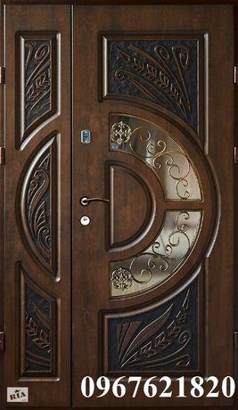 Двері вхідні металеві патиновані