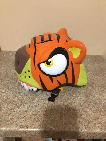 Kask Crazy safety tygrys świecąca lampa