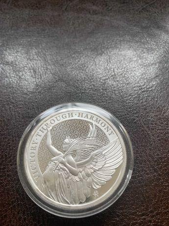 Moneta srebrna z serii The Queen's Virtues CNOTY KRÓLOWEJ - ZWYCIĘSTWO