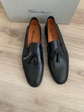 Лоферы туфли мокасины Santoni ОРИГИНАЛ новые